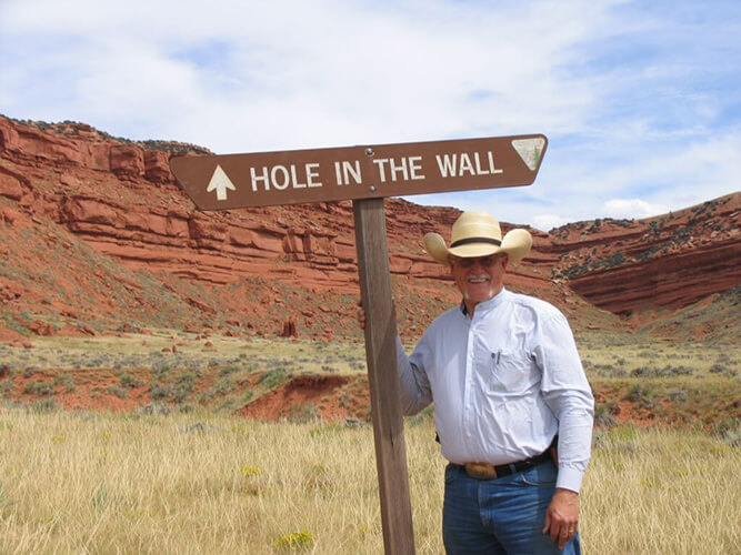 Greg Waggoner by the Hole in the Wall
