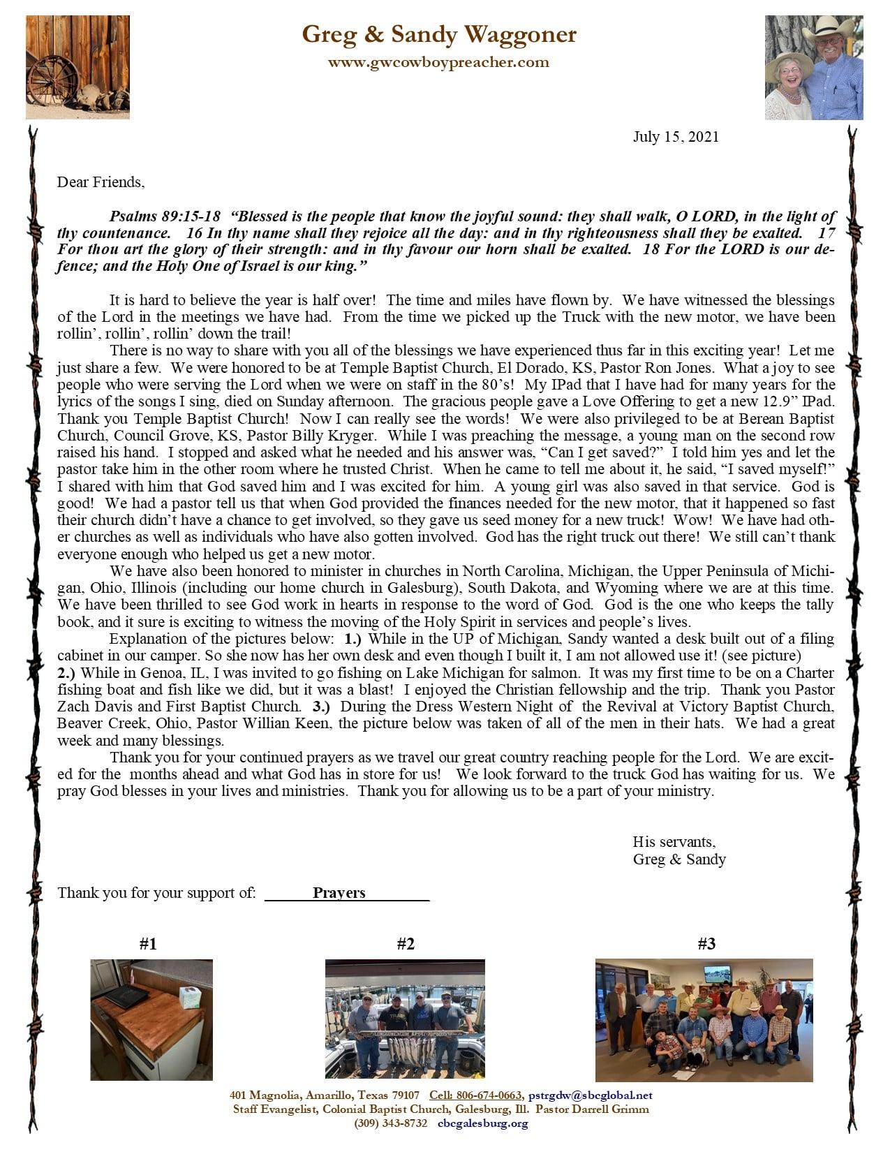 December 2020 Prayer Letter